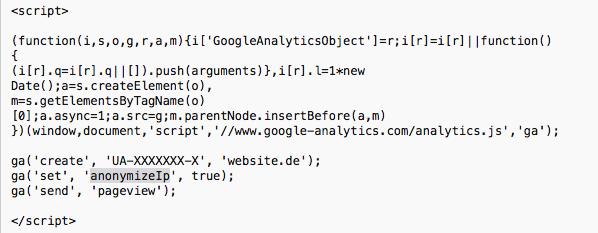 Tracking-Code für Universal Analytics