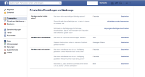 Facebook Privacy Einstellungen