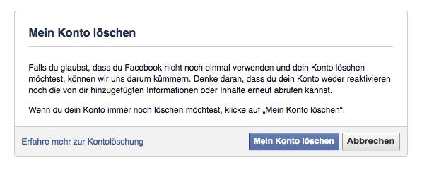 Wie kann ich mein Facebook-Konto löschen? - Datenwachschutz.de